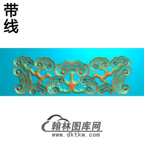灵芝椅脑2精雕图(YN-064)