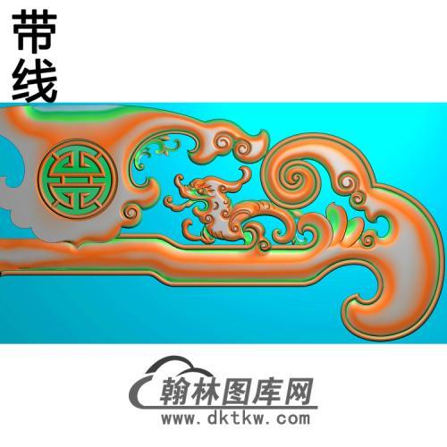 石江龙椅脑精雕图(YN-067)