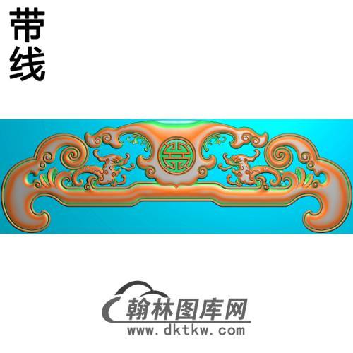 石江龙椅脑拼精雕图(YN-068)