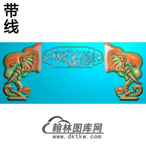 象头如意精雕图(YN-073)