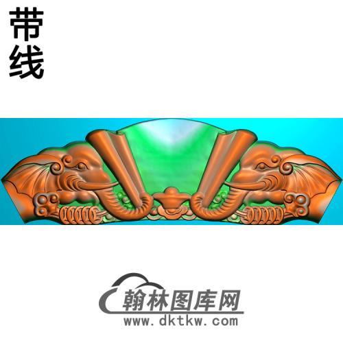 象头沙发短椅脑精雕图(YN-074)