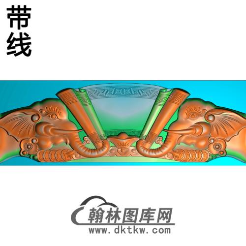 象头椅短脑精雕图(YN-075)