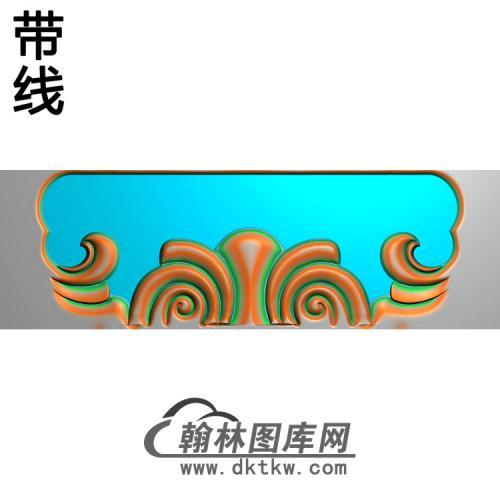 战国餐台副椅搭脑精雕图(YN-090)
