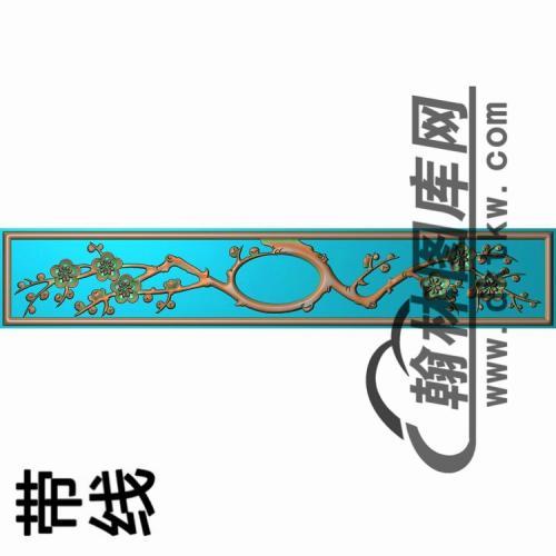 2006年12月9日花鸟床床头柜抽斗板精雕图(CTM-003)