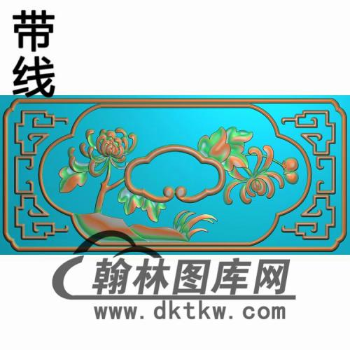 CTKS-211-菊花抽斗精雕图(CTM-023)