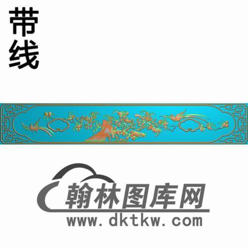 GZMB-105-百年好合五斗柜菊花精雕图(CTM-047)