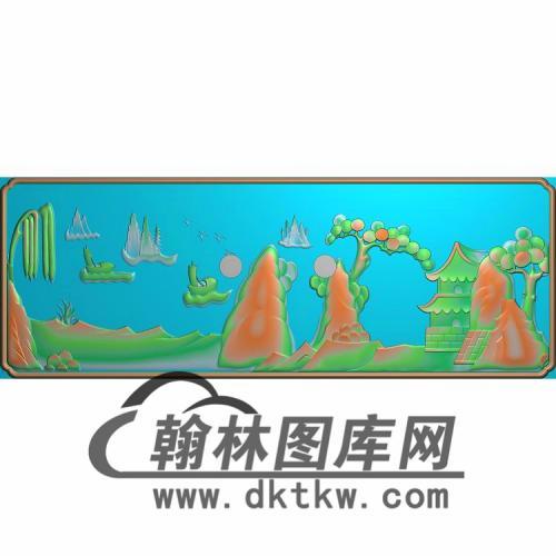 SSJZ-3104-山水人物抽斗板1无线精雕图(CTM-065)