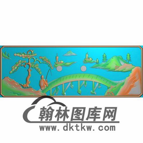 SSJZ-3105-山水人物抽斗板2无线精雕图(CTM-066)