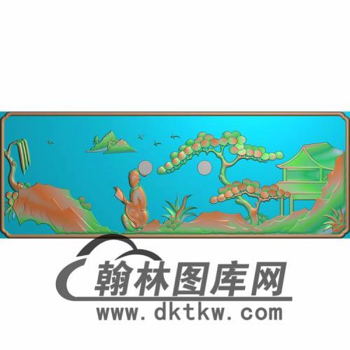 SSJZ-3107-山水人物抽斗板4无线精雕图(CTM-067)