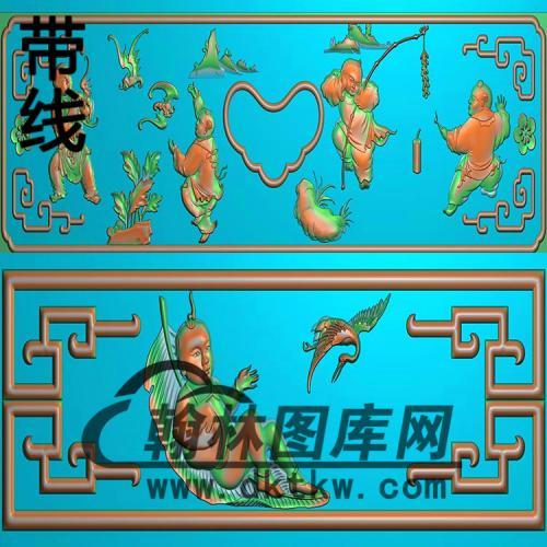 百子抽斗精雕图(CTM-073)