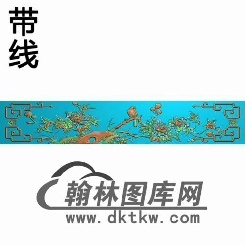 牡丹抽斗 (2)精雕图(CTM-084)