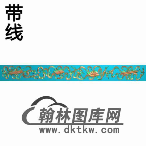 琴棋书画侧板11精雕图(CTM-086)