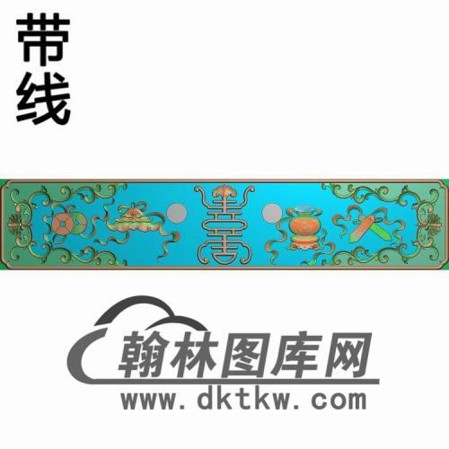 现代床抽屉精雕图(CTM-089)