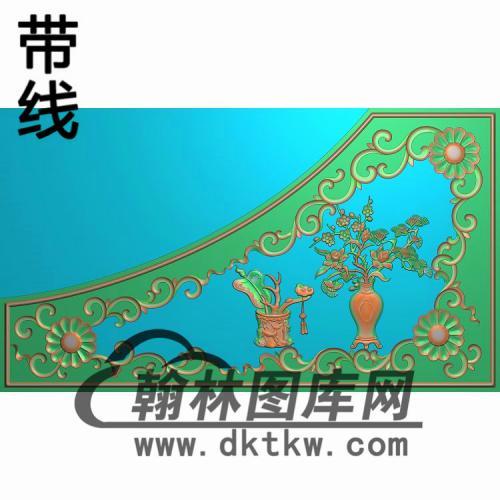 现代床扶手精雕图(CTM-090)