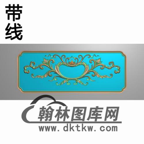 洋花床床头柜抽斗板精雕图(CTM-092)