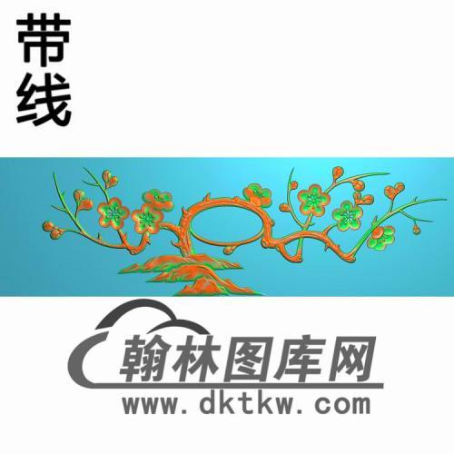 衣柜抽斗梅花精雕图(CTM-093)
