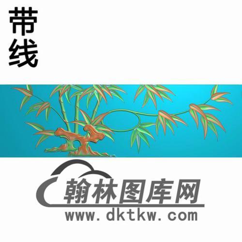 衣柜抽斗竹花精雕图(CTM-094)