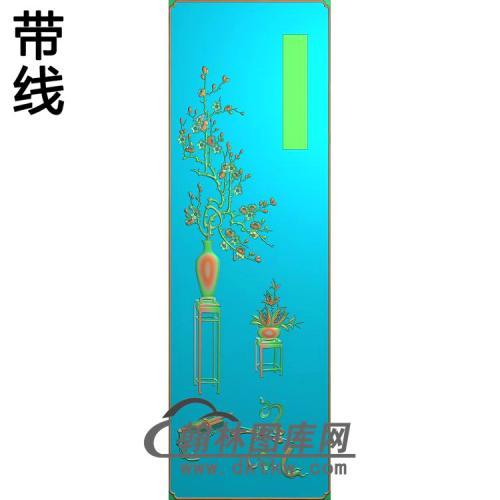 百年好合顶箱柜梅花长精雕图(MHP-016)