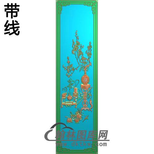 大门梅花精雕图(MHP-018)