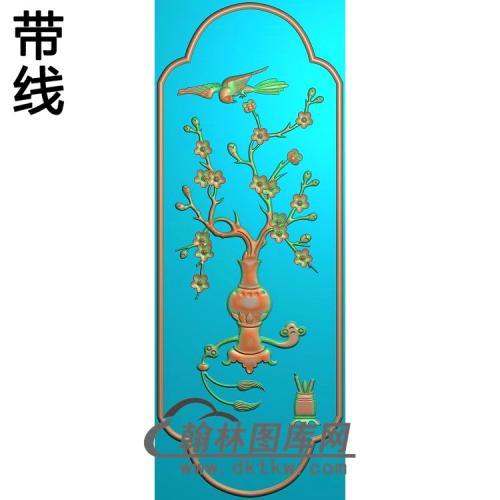 大衣柜梅花精雕图(223x608)(MHP-019)