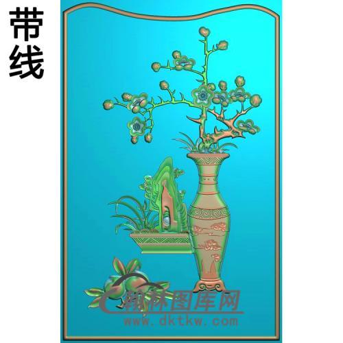 花瓶—梅花精雕图(MHP-021)