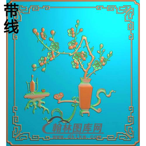 梅花瓶912gai精雕图(MHP-027)