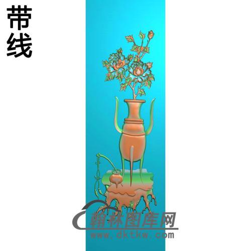 牡丹花瓶精雕图(MHP-029)