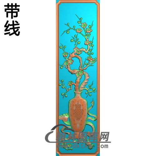 书柜上板 -梅花精雕图(MHP-030)