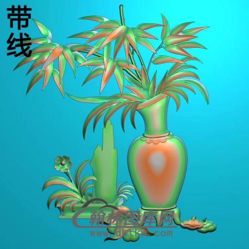 HN-212-竹子精雕图(zzP-002)