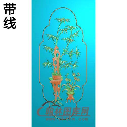 竹花精雕图(zzP-006)