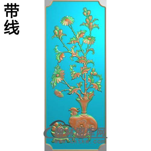 HN-220-菊花石榴精雕图(JHP-004)