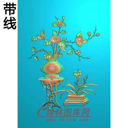 JH-3043-四门顶箱衣柜菊花精雕图(JHP-012)