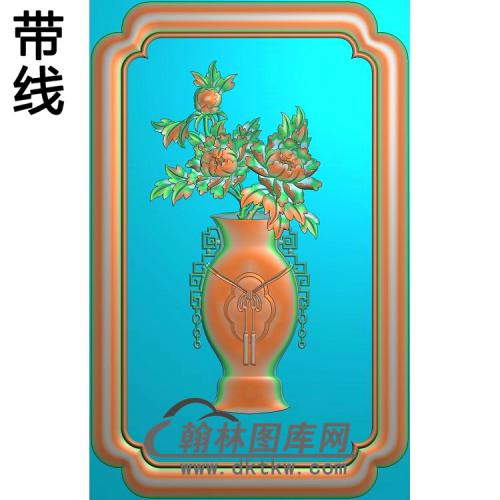 CTBB-7014博古牡丹精雕图(MDP-006)