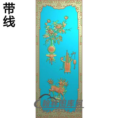 HP-006-花瓶顶箱柜门板1 5.20精雕图(MDP-014)