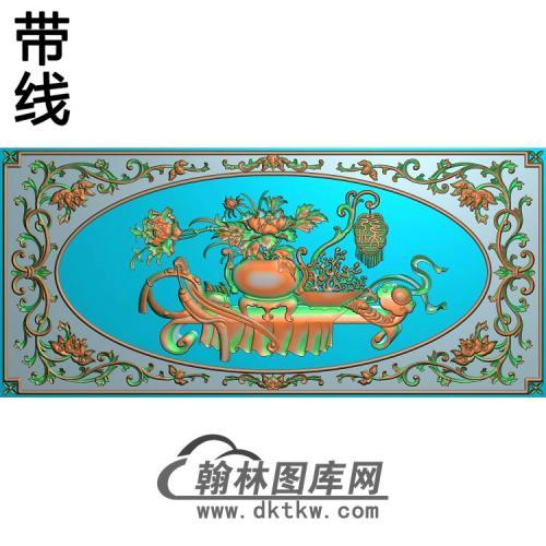 HP-2206洋花花瓶牡丹精雕图.(MDP-016)