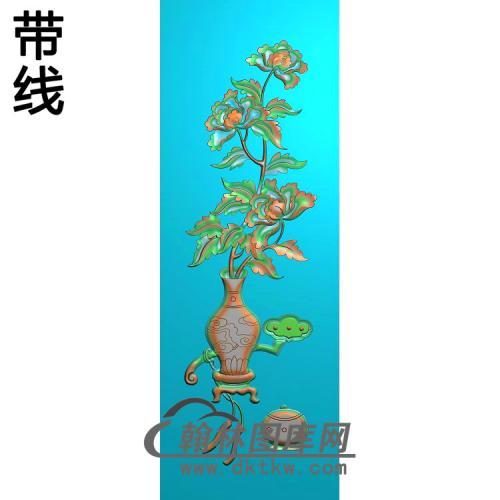 花瓶菊花精雕图(MDP-047)