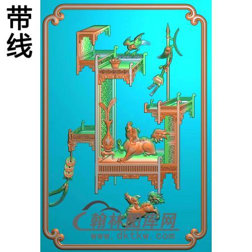 BGJ-159-博古狮子精雕图(BGP-005)