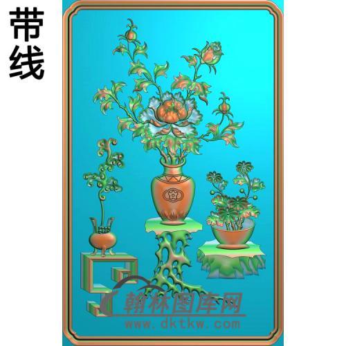 HP-005-博古花瓶精雕图(BGP-017)