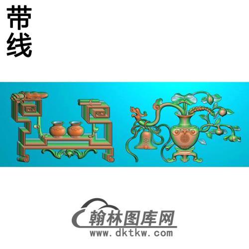 HP-021博古纹6精雕图(BGP-019)