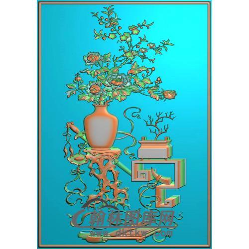 背板 桃花3精雕图(BGP-038)