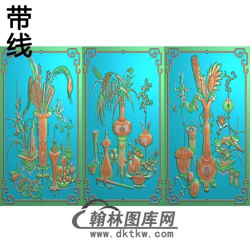 花瓶套图精雕图(HPT-001)