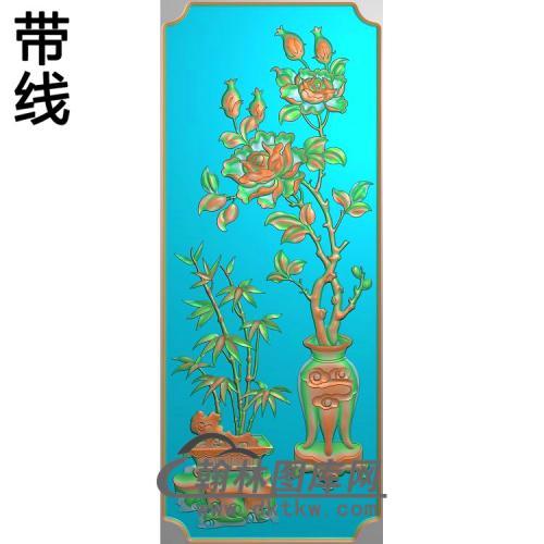 HN-228-月季竹子精雕图(YJP-003)
