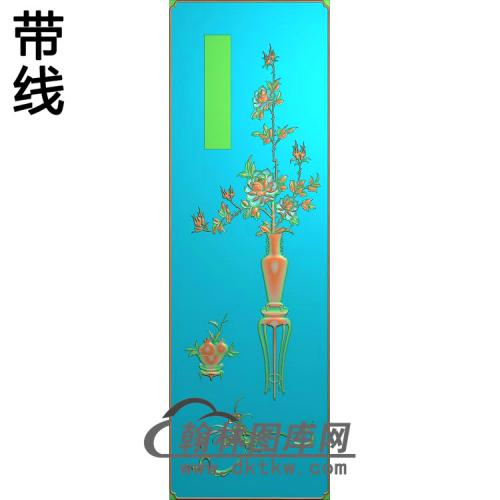 百年好合顶箱柜月季长精雕图(YJP-008)