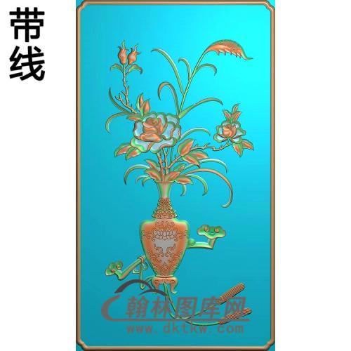 友联(明式仿古精品柜门板)——月季精雕图(YJP-019)
