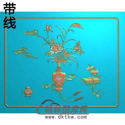 友联(明式仿古精品柜门板)——月季加精雕图(YJP-020)