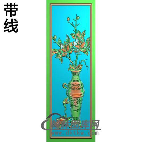 缘圆花板月季5精雕图(YJP-022)