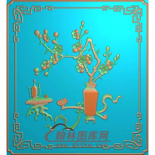 HP-1024-梅花瓶精雕图wux(QTP-060)