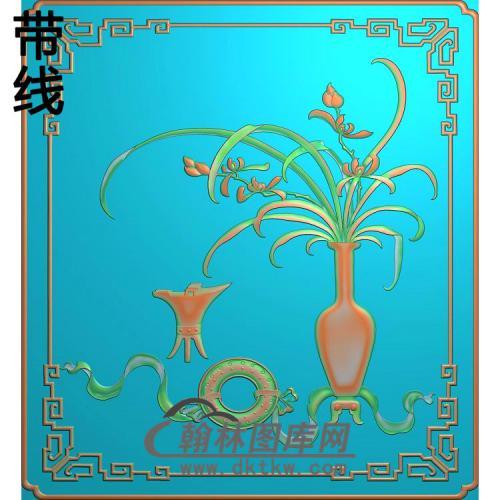 HP-1025-兰花瓶精雕图(QTP-061)