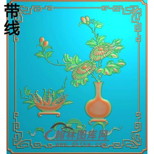 HP-1026-菊花瓶精雕图(QTP-062)