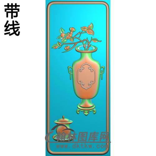 HP-2207花瓶有线精雕图(QTP-065)